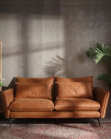 ESCAND CAMEL 3 Seater Sofa | ESCAND/3P152777/CAMEL | Keisu, lighting and design.