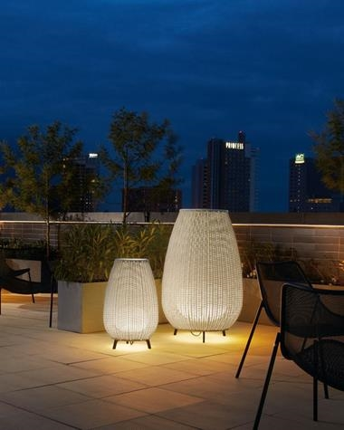Outdoor floor lamp AMPHORA | AMPHORA/MINI/BEIGE/0033003/P833 | BOVER | Keisu, lighting and design.